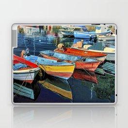 Mogan fishing boats Laptop & iPad Skin