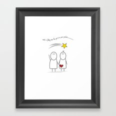 Jibsey & Jess. Catch A Falling Star Framed Art Print