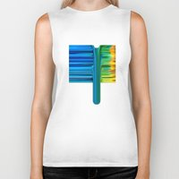 waterfall Biker Tanks featuring Waterfall by Bruce Stanfield