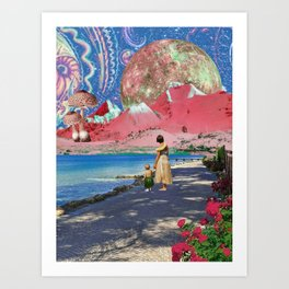 Goodbye Hawaii Art Print