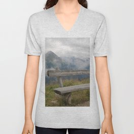 A cloudy day in the Austrian Alps Unisex V-Neck
