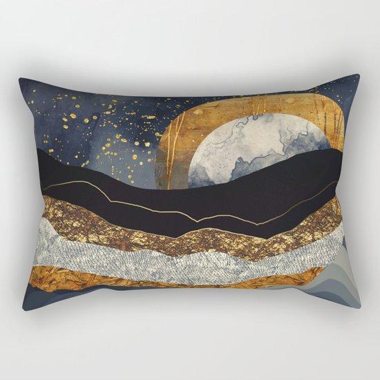 Metallic Mountains Rectangular Pillow