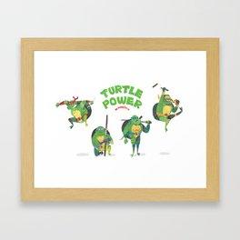 Ninja Turtles Turtle Power Framed Art Print