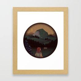 Montain Hiker Framed Art Print