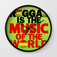 reggae Wall Clocks featuring Reggae Music by Ahfimi Brands