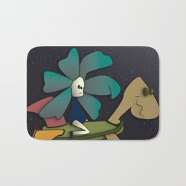 """""""Going to Unexpected Places with RoboTurtle"""" Flowerkid Bath Mat"""