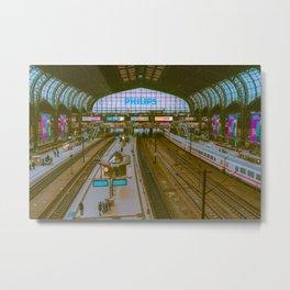 Railway / Hamburg / Bladerunner Vibes Metal Print