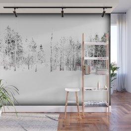 Trees in Winter Vignette   Prospect Landscape   Nadia Bonello   Canada Wall Mural