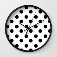 polka Wall Clocks featuring • • • polka by MONMONDERNDELLA