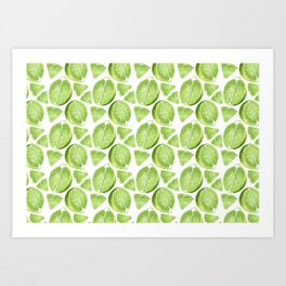 Juicy Lime with vitamin C Art Print