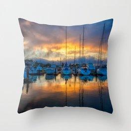 A Sausalito Sunset Throw Pillow
