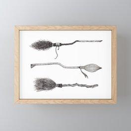 broomsticks Framed Mini Art Print