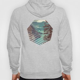 Vintage Blue Crater Lake and Trees - Nature Photography Hoody