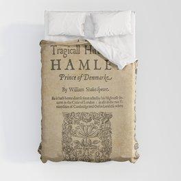 Shakespeare, Hamlet 1603 Duvet Cover