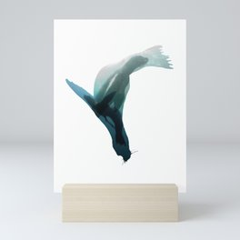 Galapagos sea lions triple exposure Mini Art Print