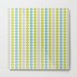 Grey, Green and Blue Abstract Polka Dot Pattern Metal Print
