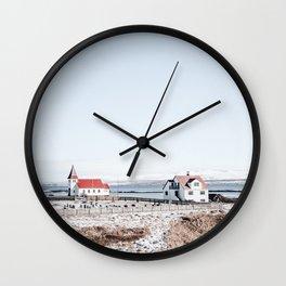 Fisherman Houses Wall Clock