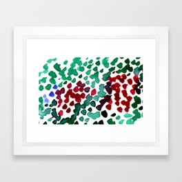 trickle no3...two hearts on grass Framed Art Print