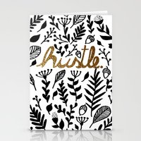 hustle Stationery Cards featuring Hustle by wildpink