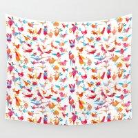 takmaj Wall Tapestries featuring Birds by takmaj