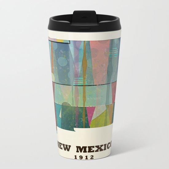 new mexico map modern Metal Travel Mug
