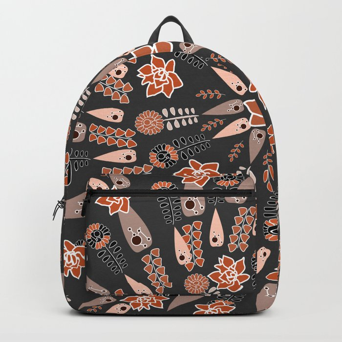Floral whirl Backpack