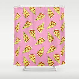 Pizza Pattern By Everett Co Shower Curtain
