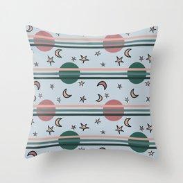 space balls pattern pink Throw Pillow