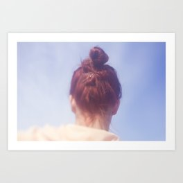 Girl With Red Hair Art Print