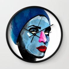 Woman's head Wall Clock