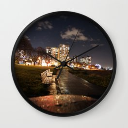 English Bay Long Exposure Wall Clock