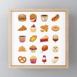 Pixel Junk Food Framed Mini Art Print