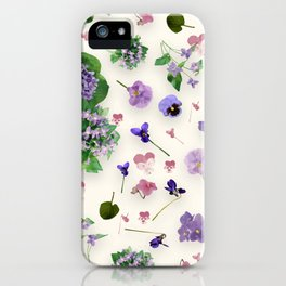 Delicate Violets iPhone Case