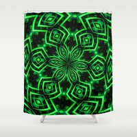 rave Shower Curtains featuring Rave Explosive by Julie Maxwell