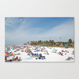 Relaxing at Fort Myers Beach Canvas Print
