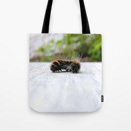 Wannabe Tiger (Fox Moth Caterpillar) Tote Bag