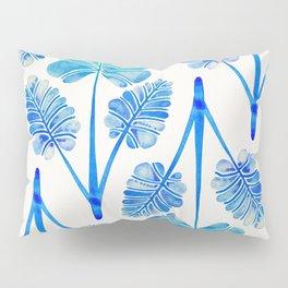 Tropical Palm Leaf Trifecta – Blue Ombré Palette Pillow Sham