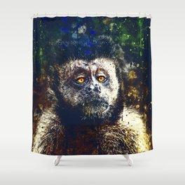 bored monkey wsfn Shower Curtain