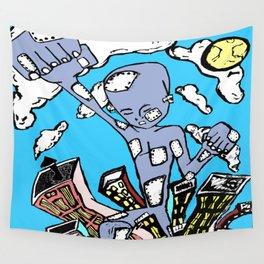 """Dancing Robot"" Wall Tapestry"