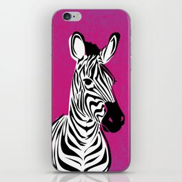 Magenta Pop Zebra iPhone Skin