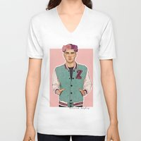 zayn V-neck T-shirts featuring Zayn varsity by Coconut Wishes