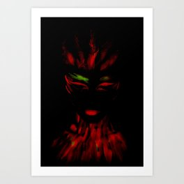 Red Phoenix Art Print