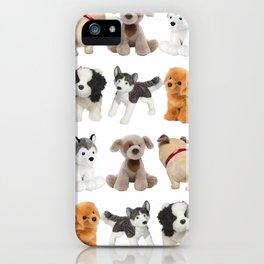 Fluffy Puppy Dog Kids Pattern iPhone Case