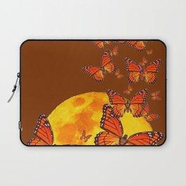 MONARCH BUTTERFLIES GOLDEN MOON BROWN FANTASY Laptop Sleeve