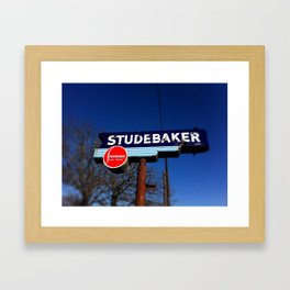 STUDEBAKER LOT SIGN Framed Art Print