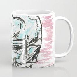 Chill skull - color ink skull on watercolor paper Coffee Mug