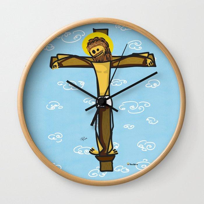 Jesus smiling Wall Clock