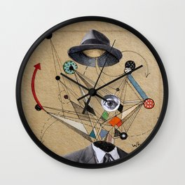 THE MAN WHO QUESTIONED EVERYTHING Wall Clock