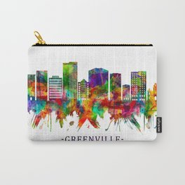 Greenville South Carolina Skyline Carry-All Pouch