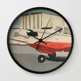 The Mooney-Red Airplane Wall Clock